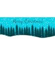 Christmas horisontal banner vector image
