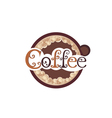 Poster with a coffee cup vector image