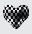 3d of a balloon in the form of a heart with a vector image vector image