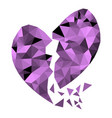 abstract geometric polygon broken heart vector image