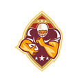 American Football Running Back Star Ball vector image vector image