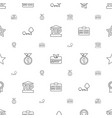 badge icons pattern seamless white background vector image vector image
