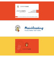 beautiful battery logo and business card vertical vector image vector image