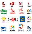 biggest collection of logos shoes vector image vector image