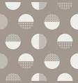 bold circles textured seamless pattern vector image vector image
