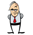boss cartoon vector image vector image