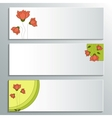 Business Card with a Picture of Flowers vector image vector image