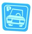 Car parking icon cartoon style vector image vector image