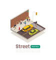 colored city isometric composition vector image