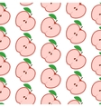colorful seamless pattern with apples on white vector image vector image