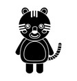 cute animal tiger standing cartoon wildlife vector image vector image