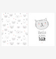 cute hand drawn cats vector image