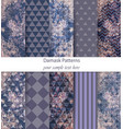damask patterns set collection baroque vector image vector image