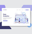 data analytics concept vector image
