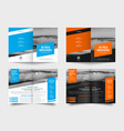 design a white and black bi-fold brochure with vector image vector image