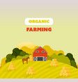 farm surroundings grounds agriculture vector image