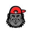 gorilla wearing cap mascot vector image
