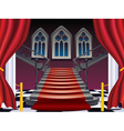 Gothic Stairs Interior6 vector image vector image
