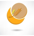 grain background with sun rays vector image vector image