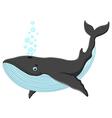 Happy whale cartoon vector image