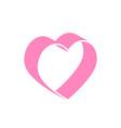 heart icon design medical health logo vector image vector image