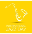 International jazz day vector image