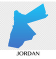 jordan map in asia continent design vector image