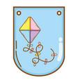 kite cute drawing vector image