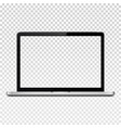 laptop computer with transparent screen isolated vector image vector image
