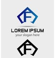 Letter F logo icon design template vector image vector image