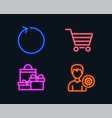 loop shopping and market sale icons support sign vector image