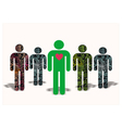 man with a heart of artificial people vector image vector image