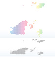 Map of Guernsey with Dot Pattern vector image vector image