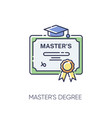 masters degree rgb color icon vector image vector image