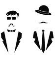 Men Icons Isolated vector image vector image