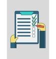 online shopping order list vector image