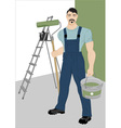 painter with a roller vector image vector image