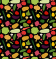 pattern vegetable background Vegetables fresh vector image