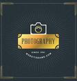 Photography Logo Design Template Photography Retro vector image