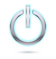 power button for design on white vector image vector image