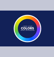rainbow color circle frame background vector image vector image