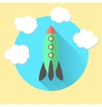 rocket and clouds run a business concept vector image vector image