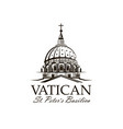 saint peters basilica at vatican vector image vector image