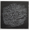 Sale hand lettering and doodles elements and vector image vector image
