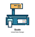 scale lineal color icon vector image