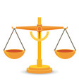 scales balance icon flat design vector image vector image