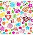 seamless pattern multicolored flowers vector image vector image