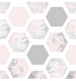 seamless pattern with marble hexagons vector image