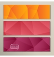 Set abstract bright picture pink red orange vector image vector image