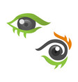 set eyes abstract design vector image vector image